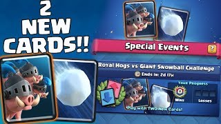 12 WINS 3RD TRY! | Royal Hog & Giant Snowball Challenge | Clash Royale