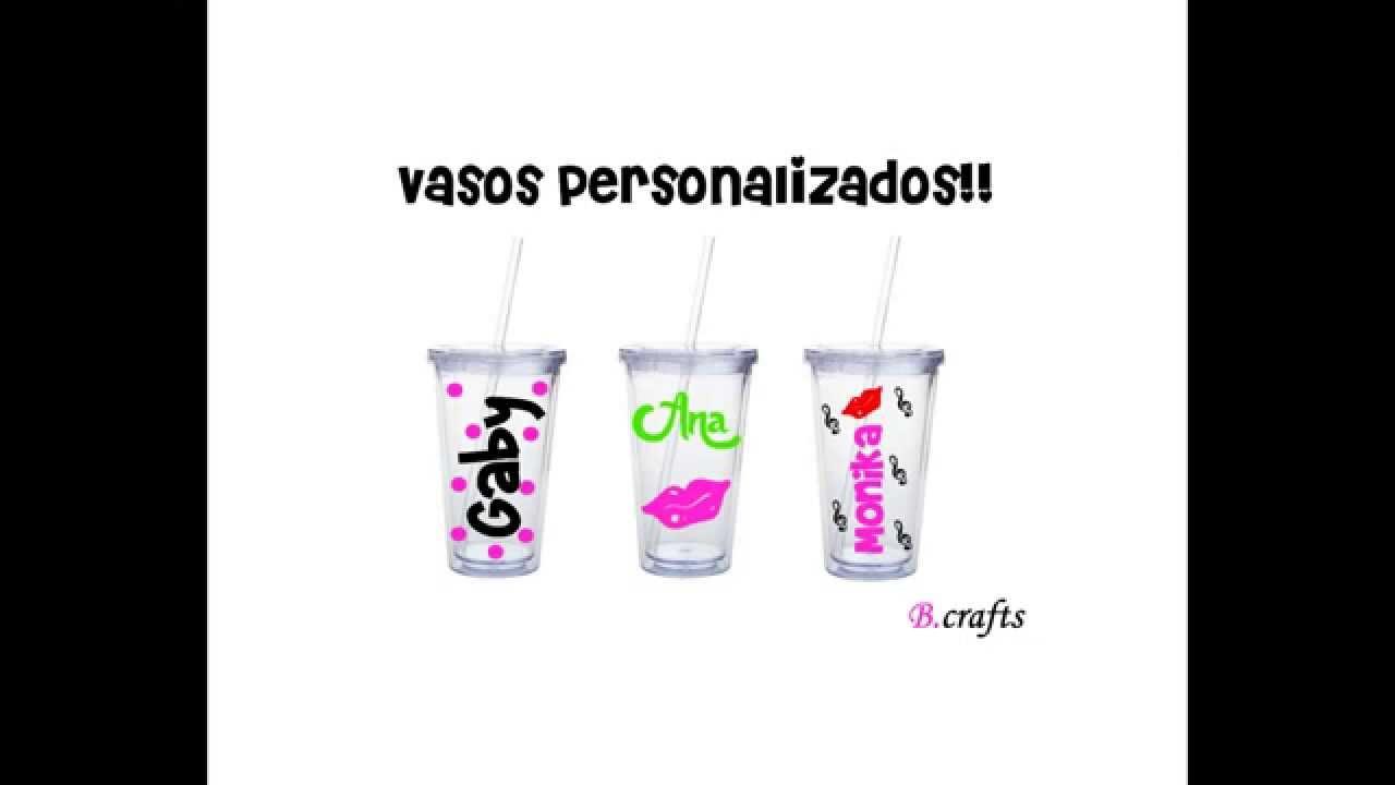 Vasos personalizados con vinilo youtube for Vinilos de pared personalizados