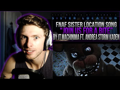 "Vapor Reacts #56 | [FNAF SFM] SISTER LOCATION SONG ""Join Us For A Bite"" by JT Machinima REACTION!!"