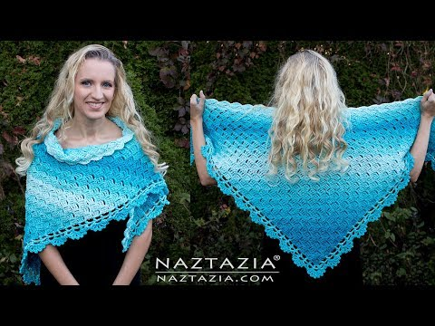 Learn How to Crochet Splendid Shawl – C2C Stitch for Wrap by Naztazia