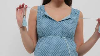 Элегантное длинное платье для беременных от Mothercare. Видеообзор новой коллекции Oh Ma