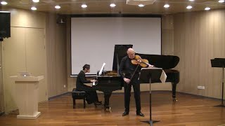 Paul Ruders Romances for viola and piano played by Paul Silverthorne and Yingying Su