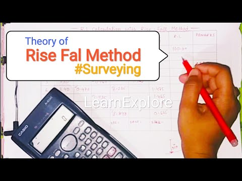 Rise Fall Method In Surveying | RL Calculations From Autolevel Data