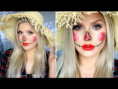 Cute Scarecrow Makeup ♡ Simple & Easy Tutorial! - YouTube