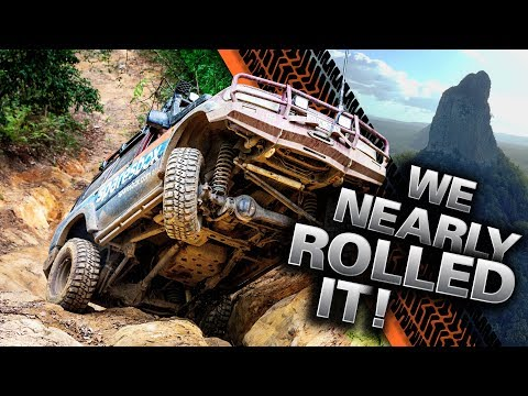 AUSTRALIA'S TOUGHEST TRACKS! HUGE wheel lifts, INSANE near 4WD rollover in the Glasshouse Mountains!