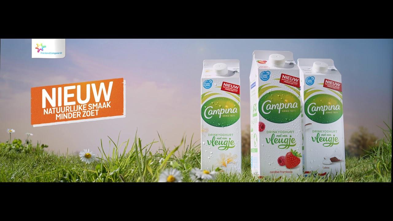 Campina: Drinkyoghurt met een vleugje