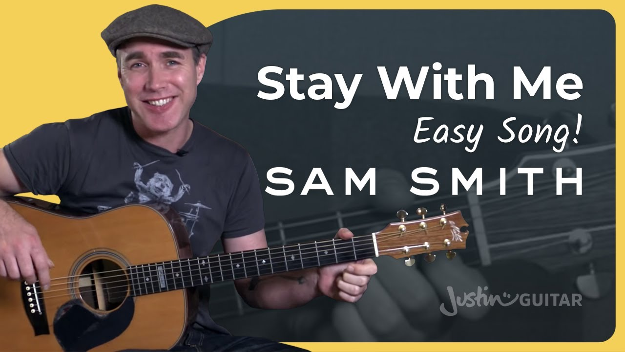 Stay With Me - Sam Smith - Easy Beginner Song Guitar Lesson Tutorial  (BS-420) - YouTube