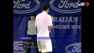 Agassi vs Sampras 4th set tiebreak 2000 Aus Open