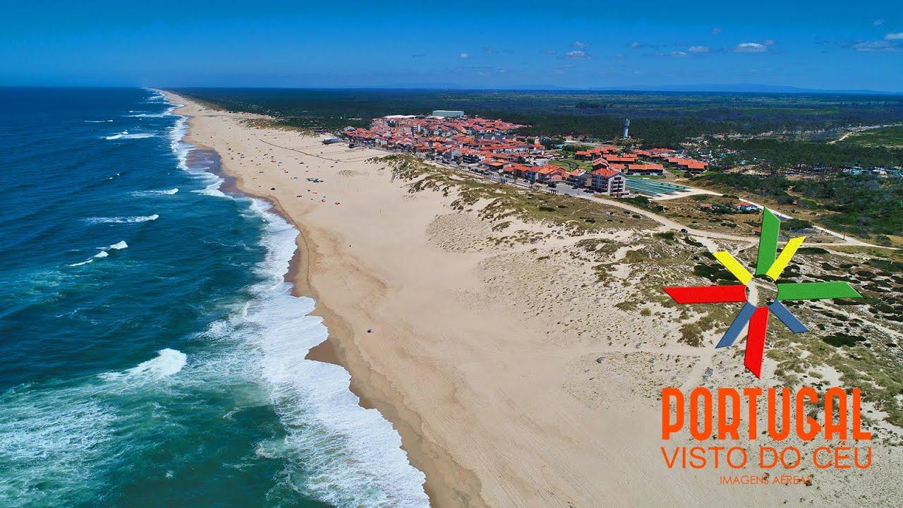 Praia da Tocha - Tocha beach aerial view - Cantanhede - 4K UltraHD