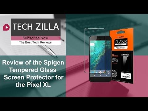 timeless design 95528 0e729 Pixel XL Spigen Glass Screen Protector Review - YouTube