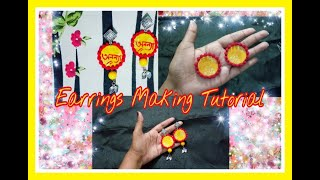 Handmade Febric Earrings Making Tutorial