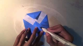 Membuat origami burung hantu