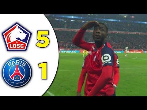 Lille vs PSG 5-1 Résumé Du Match [14/04/2019]