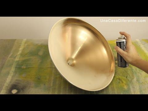Cmo pintar lmpara de metal efecto envejecido  YouTube