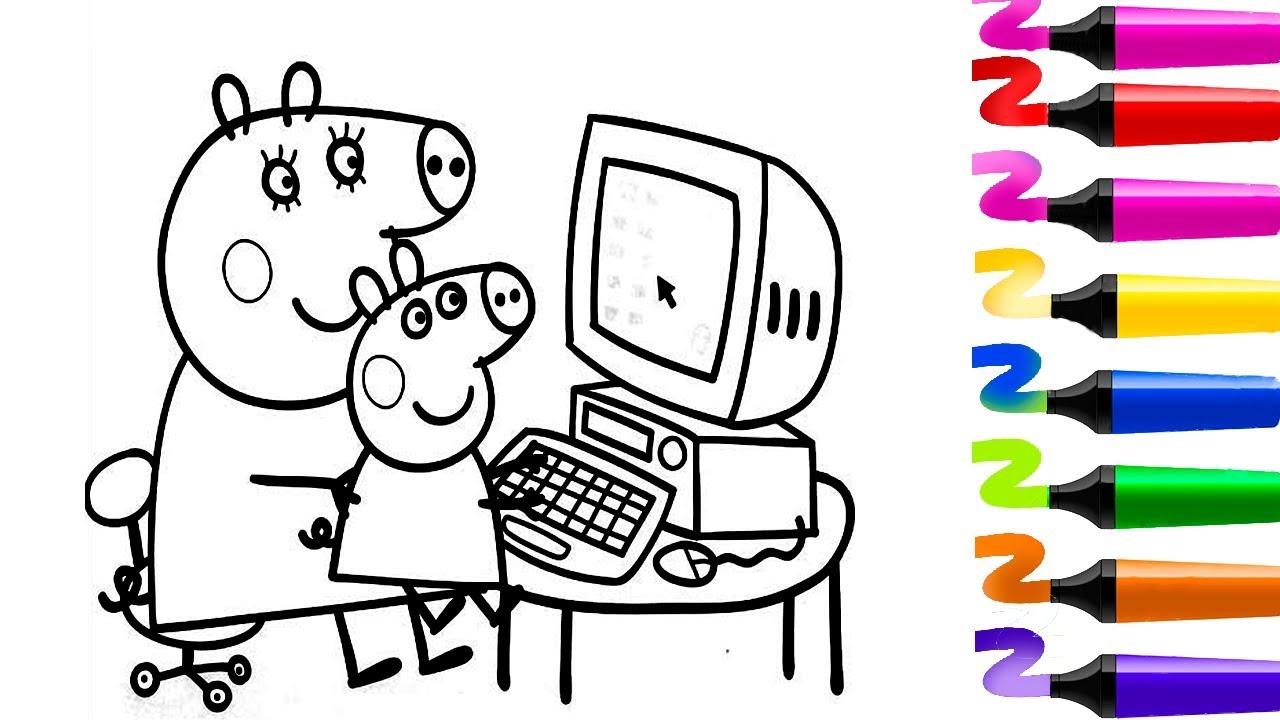 Livre de coloriage peppa pig dessin facile peppa pig et maman pig coloriage magique youtube - Dessin a imprimer peppa pig ...