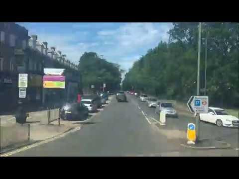FULL ROUTE VISUAL   London Bus Route 107 - Edgware to New Barnet   TE981 (LK59DZE)