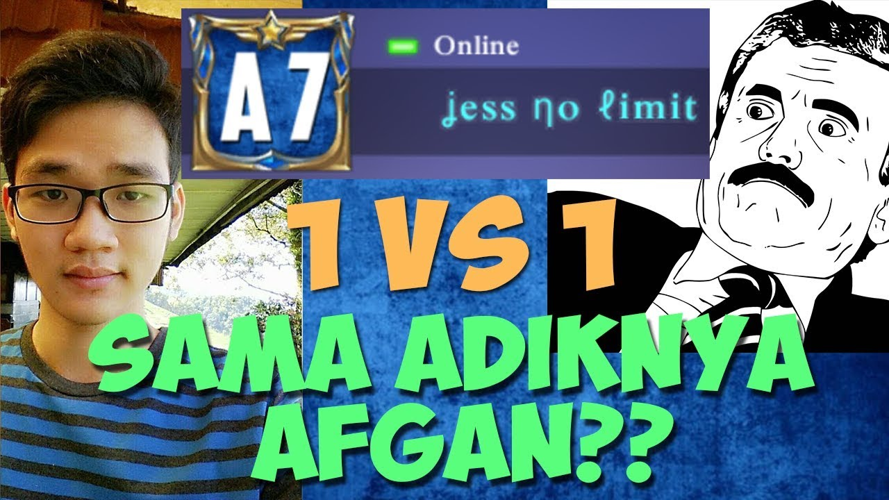 jess no limit 1 vs 1 sama adiknya afgan mobile legends