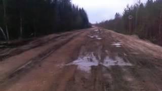 Видео0004.3gp(Дорога Вогваздино-Яренск участок дороги возле д. Межог ооо