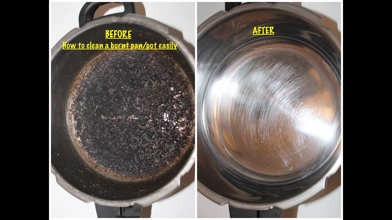 How To Clean A Burnt Pot Pan Cookware Easily Malayalam