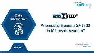 Anbindung Siemens S7 1500 an die Microsoft Azure IoT Plattform
