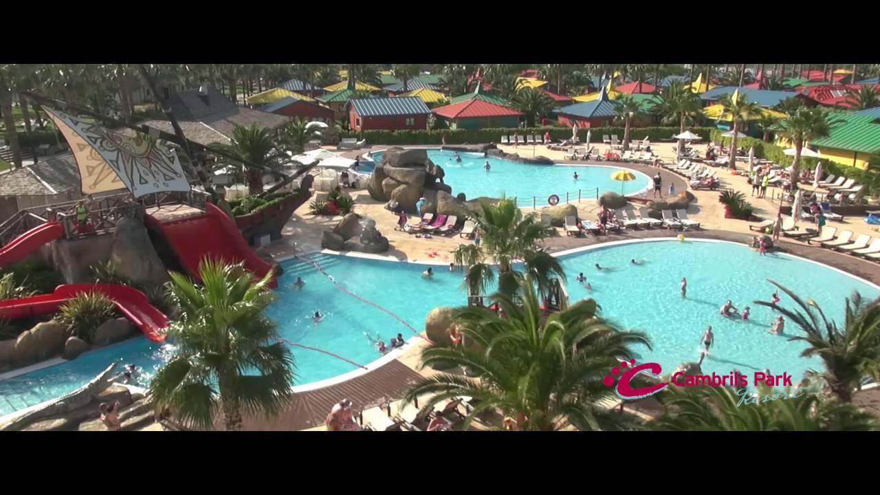 Piscinas de cambrils park resort youtube for Piscina cambrils