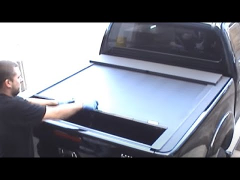Roll Up Bed >> Toyota Hilux Roll & Lock Pickup Tonneau Roll Top Cover - YouTube
