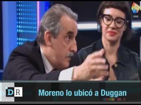Moreno lo ubicó a Duggan