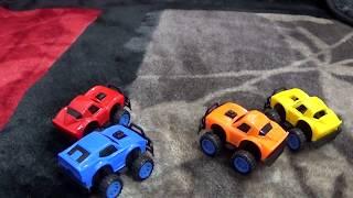 Aprender cores com carros de brinquedo para crianças