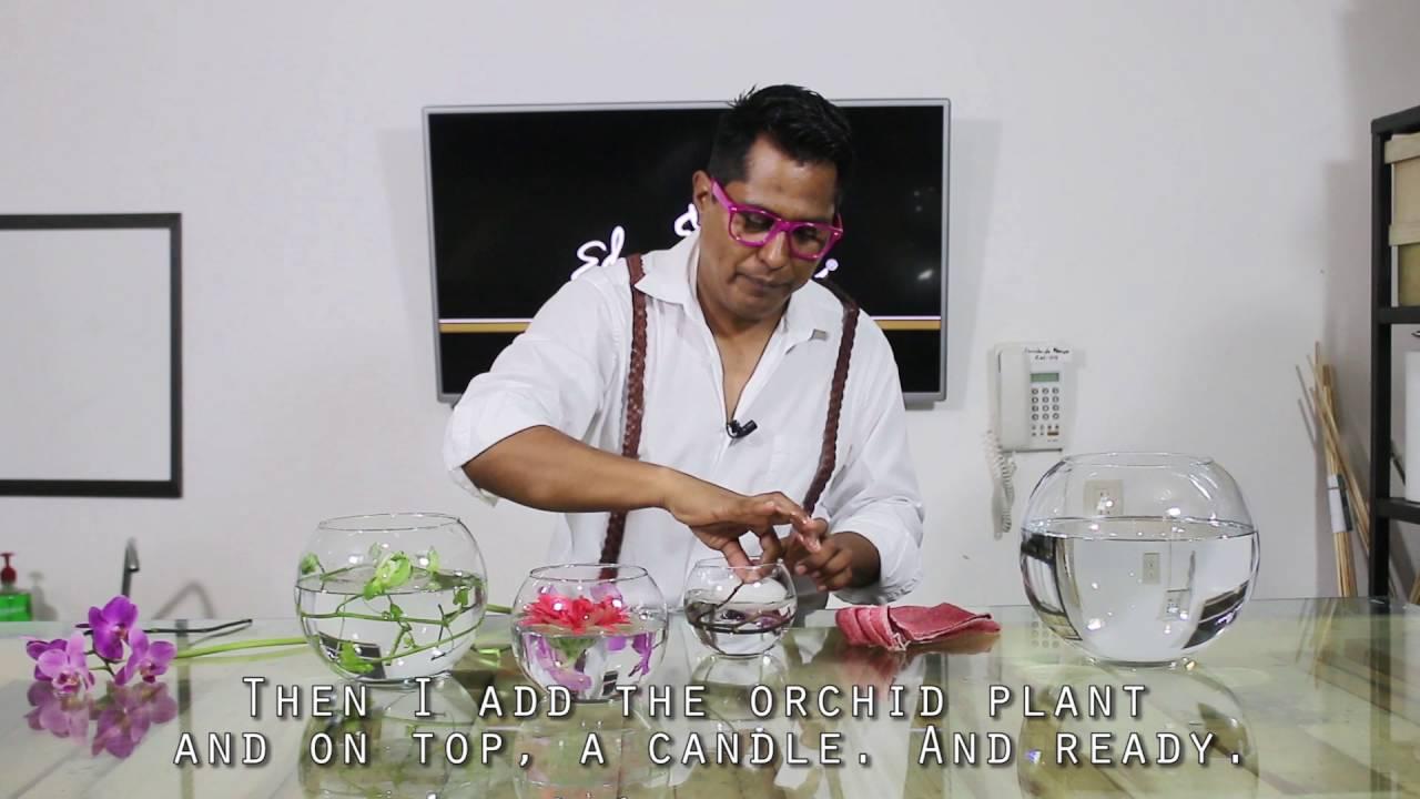 Centro de mesa en pecera t2e15 youtube for Centros de mesa con peceras