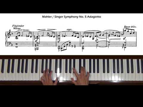 Mahler Symphony No. 5 Adagietto (arr. Singer) Piano Tutorial