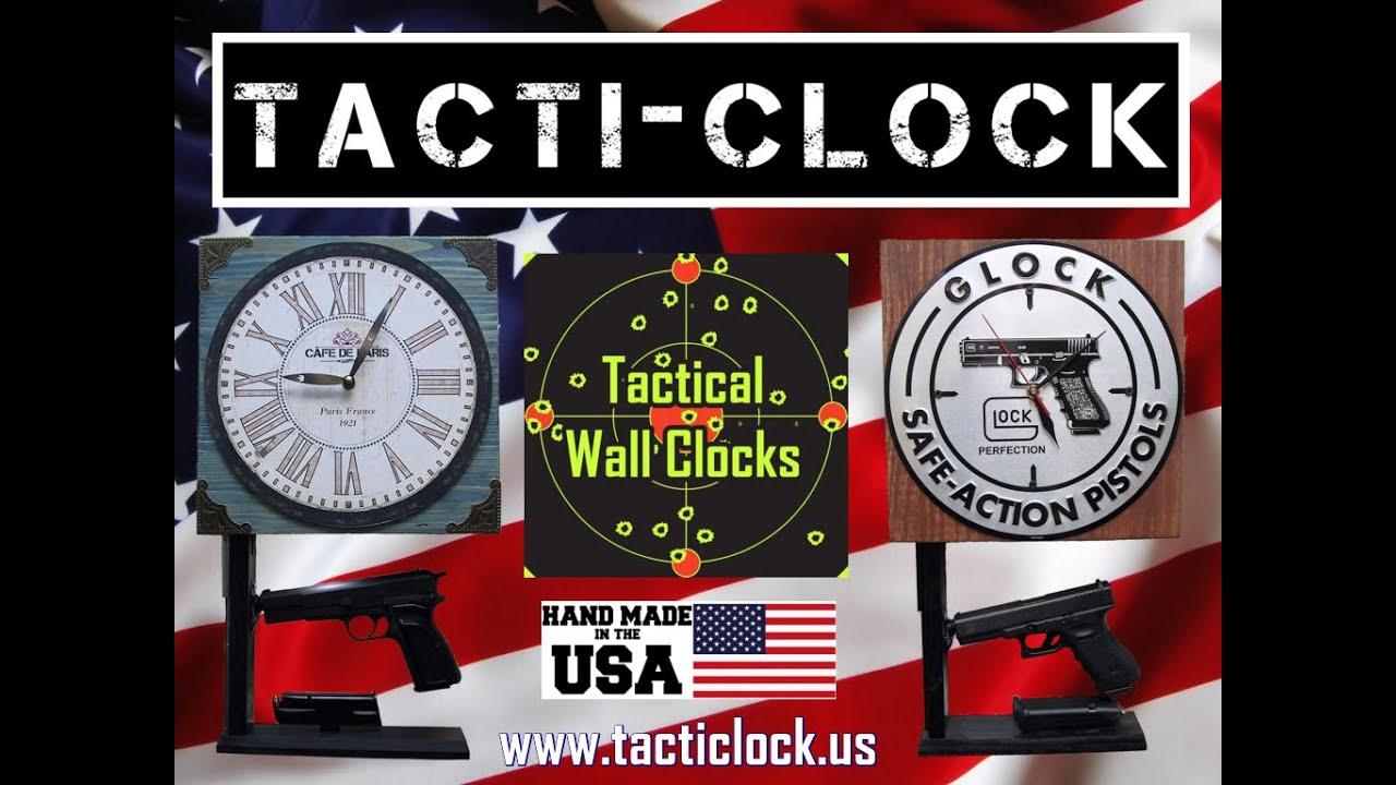 Original TactiClock Concealment Wall Clock Gun Safe with Hidden