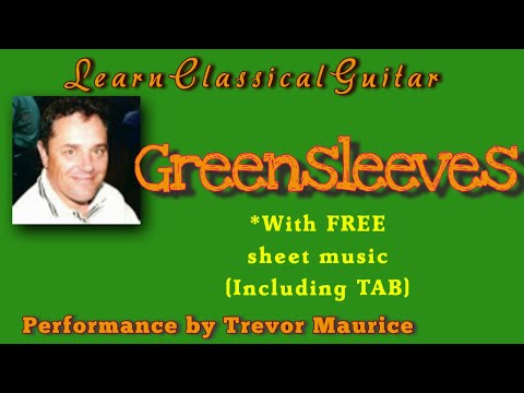 Greensleeves guitar lesson - Free sheet music with guitar tabs...