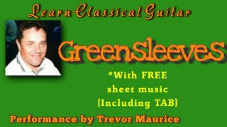 🎸Greensleeves guitar lesson - Free sheet music with guitar tabs...🎸