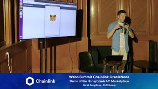 Chainlink Web3 Summit OracleNode: Demo of the Honeycomb API Marketplace