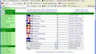 Convertir de devises en devises avec le site fxtop.com