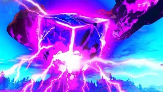 Watched the Giant Cube Exploding in Fortnite live event ...