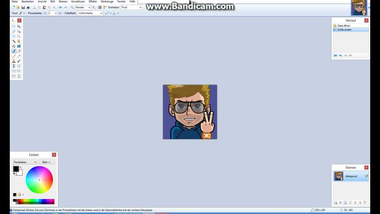 Paintnet Größe Bzw Pixel ändern Tutorial Youtube