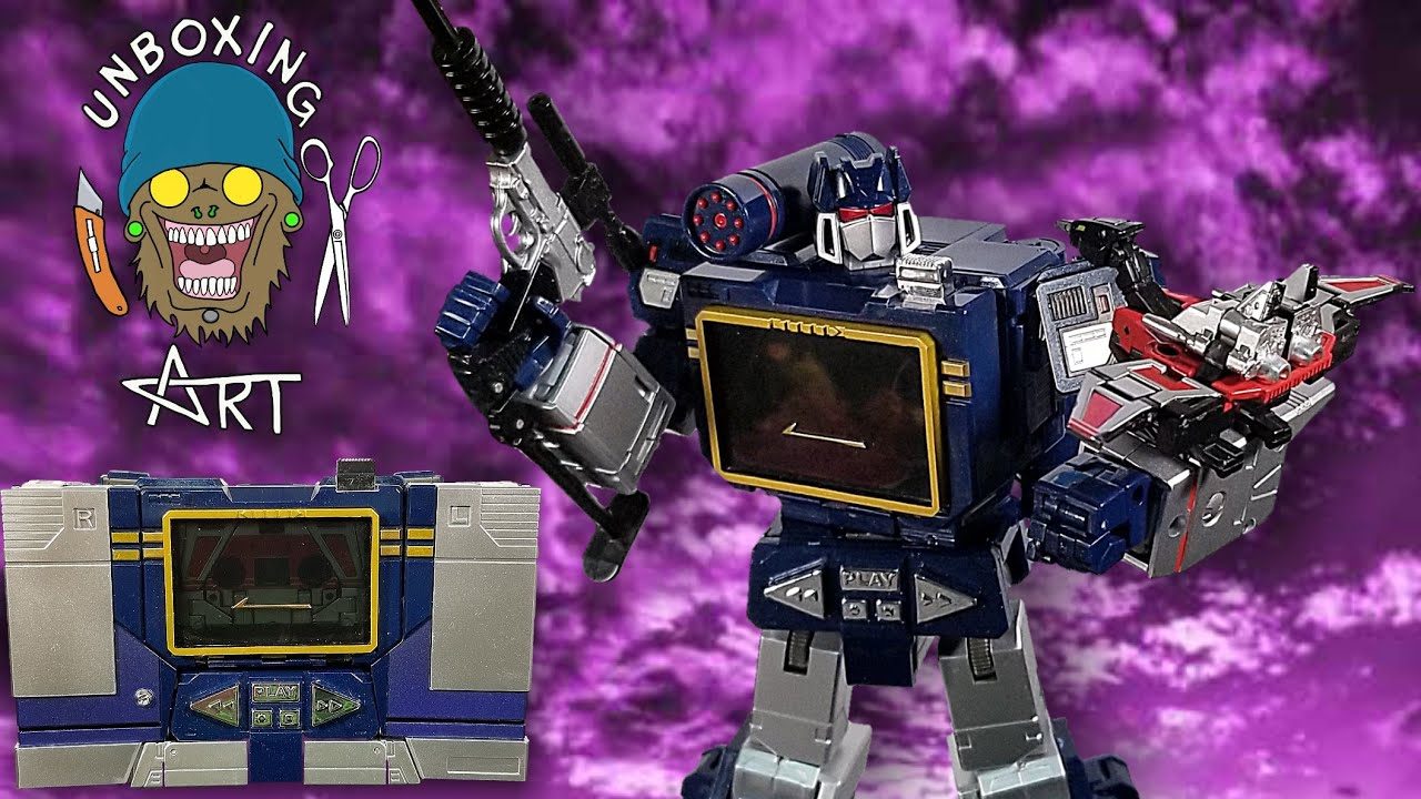 Toy House Factory Sonic Wave (Transformers KO MP-13 Soundwave and Laser  beak) Unboxing and Review