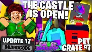 CASTLE BIOME ! NEW CODE ! PET CRATE 7 ! VACPAC ! FERN NPC Quests 👻 Roblox Ghost Simulator Update 17