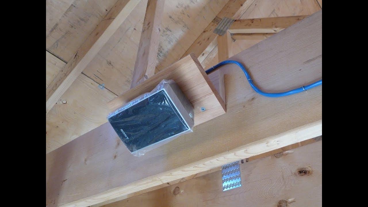garage speaker system youtube rh youtube com Wiring Speakers to Amplifier Inside Wiring in Ceiling Speakers