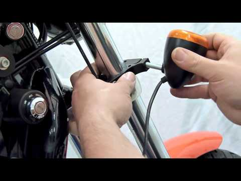 Motorcycle Led Kit >> How to mount front indicator lights for Harley Davidson Sportster - YouTube