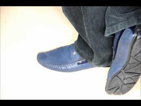 Недорого! Легкие мужские мокасины, кеды синего цвета. - YouTube