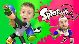 Splatoon 2 Weapons Battle! Kids Gaming on Nintendo Switch & Family Fun by KIDCITY