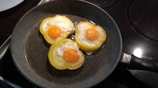 Как жарить яичницу в Перце . Как правильно жарить яйца . Что приготовить на завтрак .