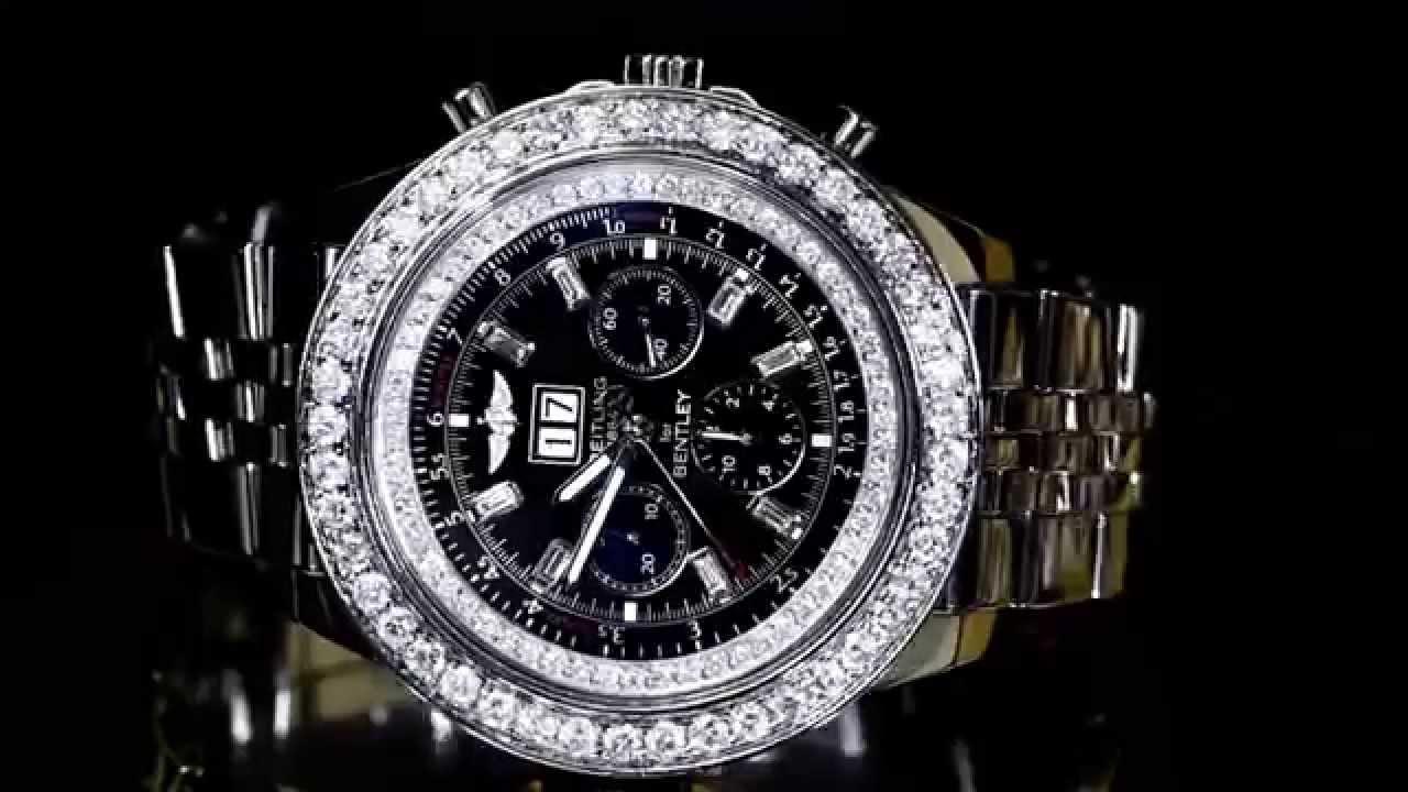 Breitling For Bentley >> BREITLING FOR BENTLEY 6.75 A4436412 WATCH10CT DIAMONDS ...