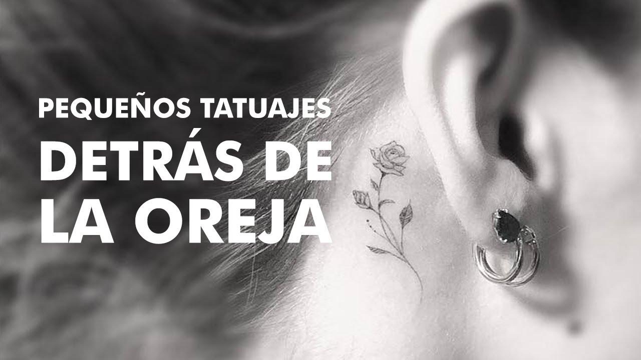 Pequeños Tatuajes Detrás De La Oreja Youtube