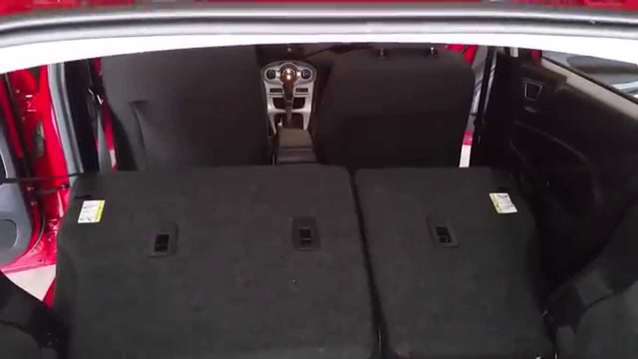 2013 Ford Fiesta Hatchback Checking Cargo Room With Rear