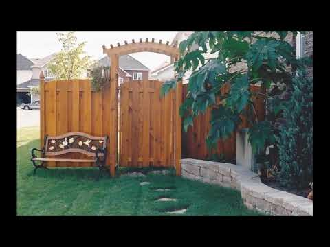 Traditional Wood Fence Ideas from Ideal Fence in Ottawa 2018