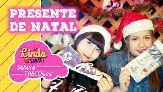 Último vídeo do canal Sakura TRECOisas!, com troca de presentes! Mu...
