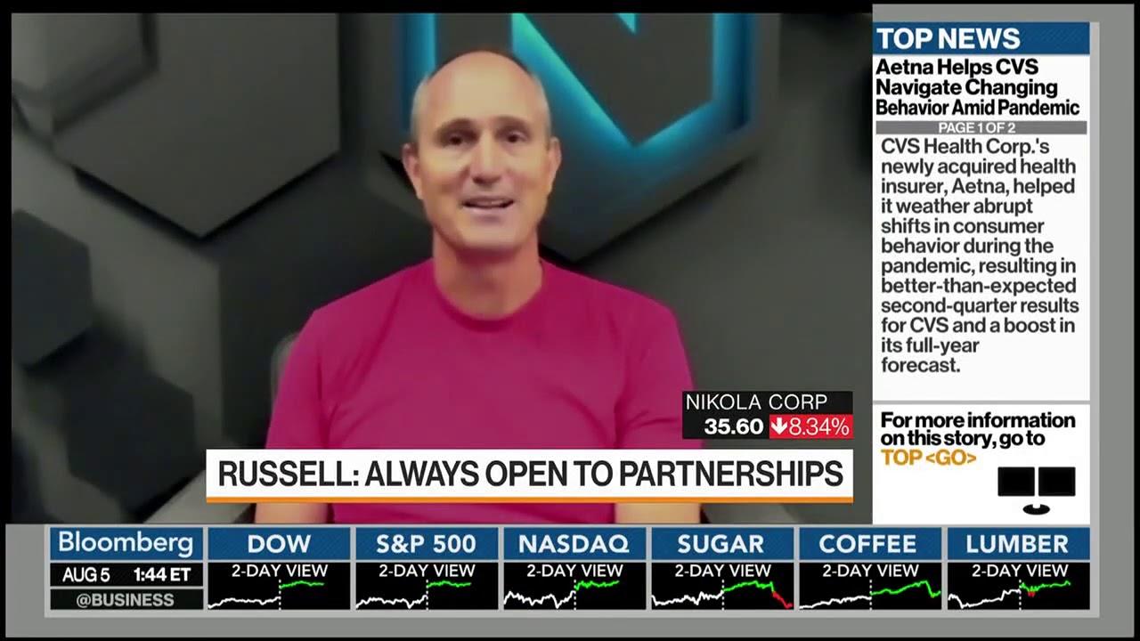 Nikola Motor Company - Mark Russell Featured on Bloomberg